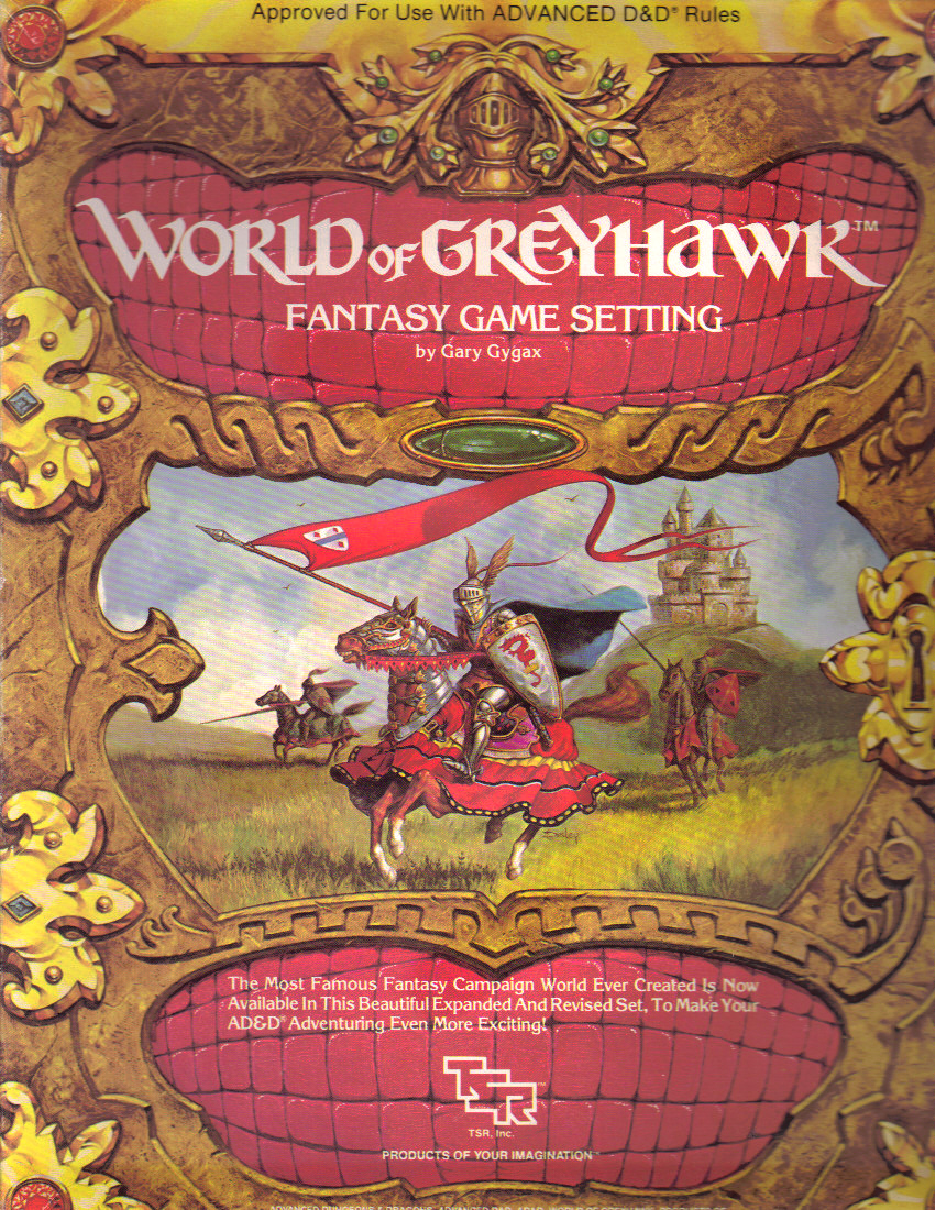 1983\'s World of Greyhawk Fantasy Game Setting for AD&D 1st Edition ...