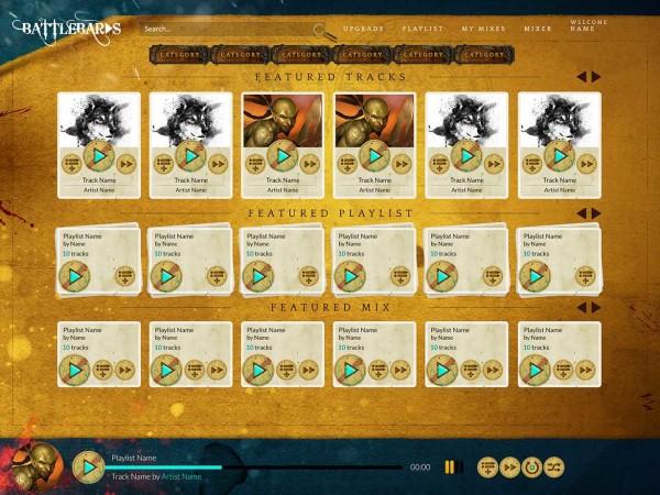 Battlebards Landing Page Mockup