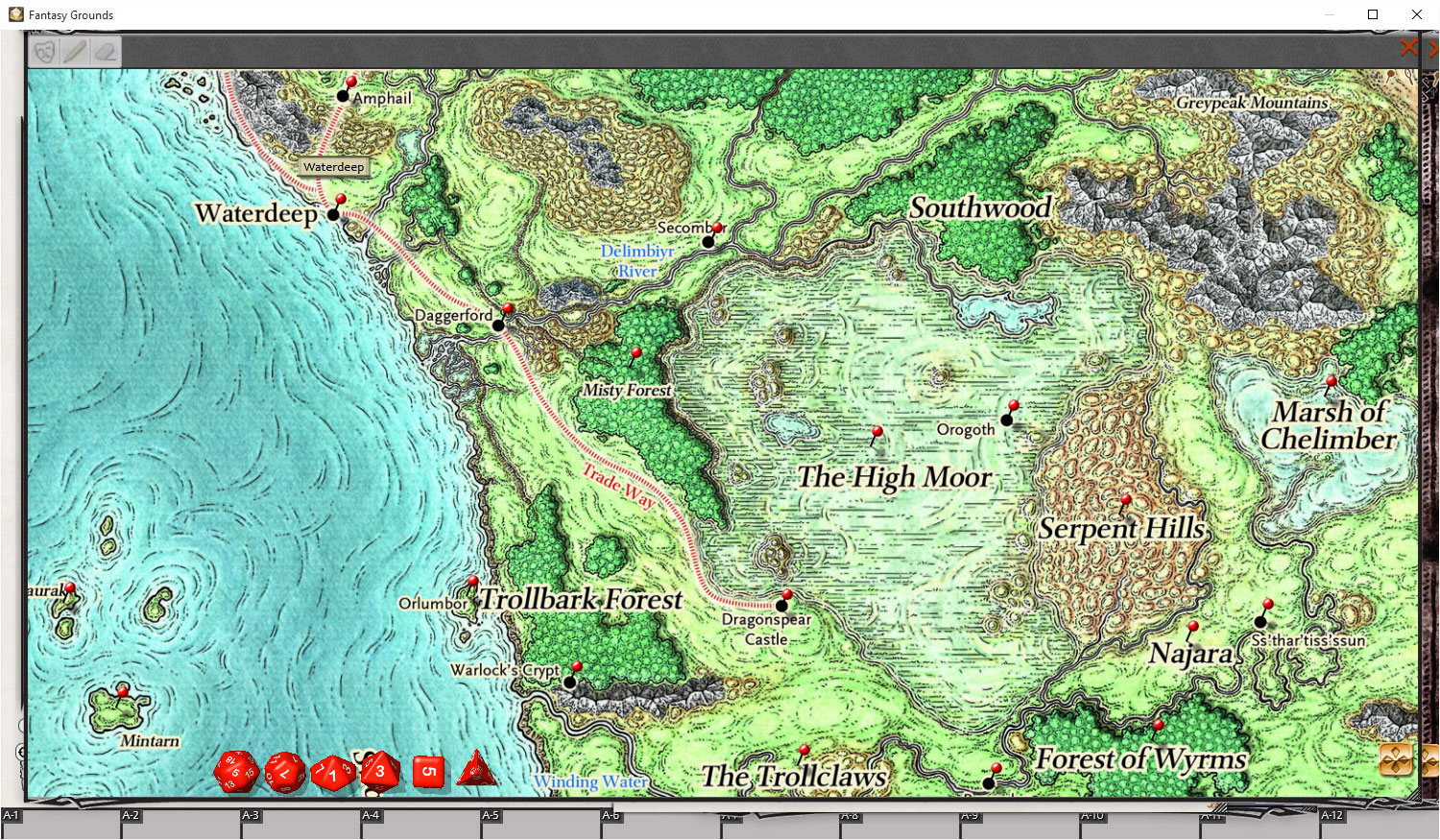 Sword Coast Adventurer S Guide Hits Fantasy Grounds Ddo