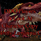 DDO Players How To Character Copy On Lamannia
