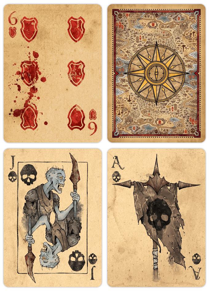 factions  fantasy themed playing card deck kickstarter