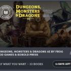 Dungeons, Monsters & Dragons 5E by Frog God Games & Kobold Press Humble Bundle