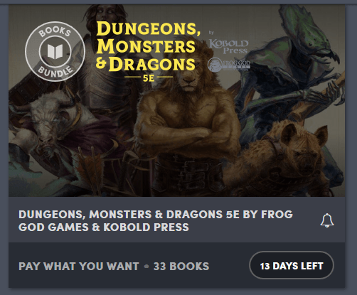Dungeons, Monsters & Dragons 5E by Frog God Games & Kobold Press
