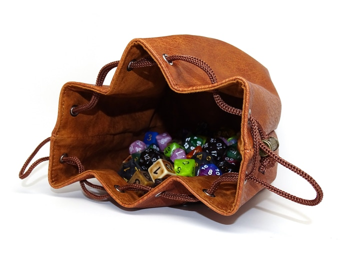 Look No Further Than Easy Roller Dice Company They Have Launched A New Kickstarter For Set Of Self Standing Leather Bags