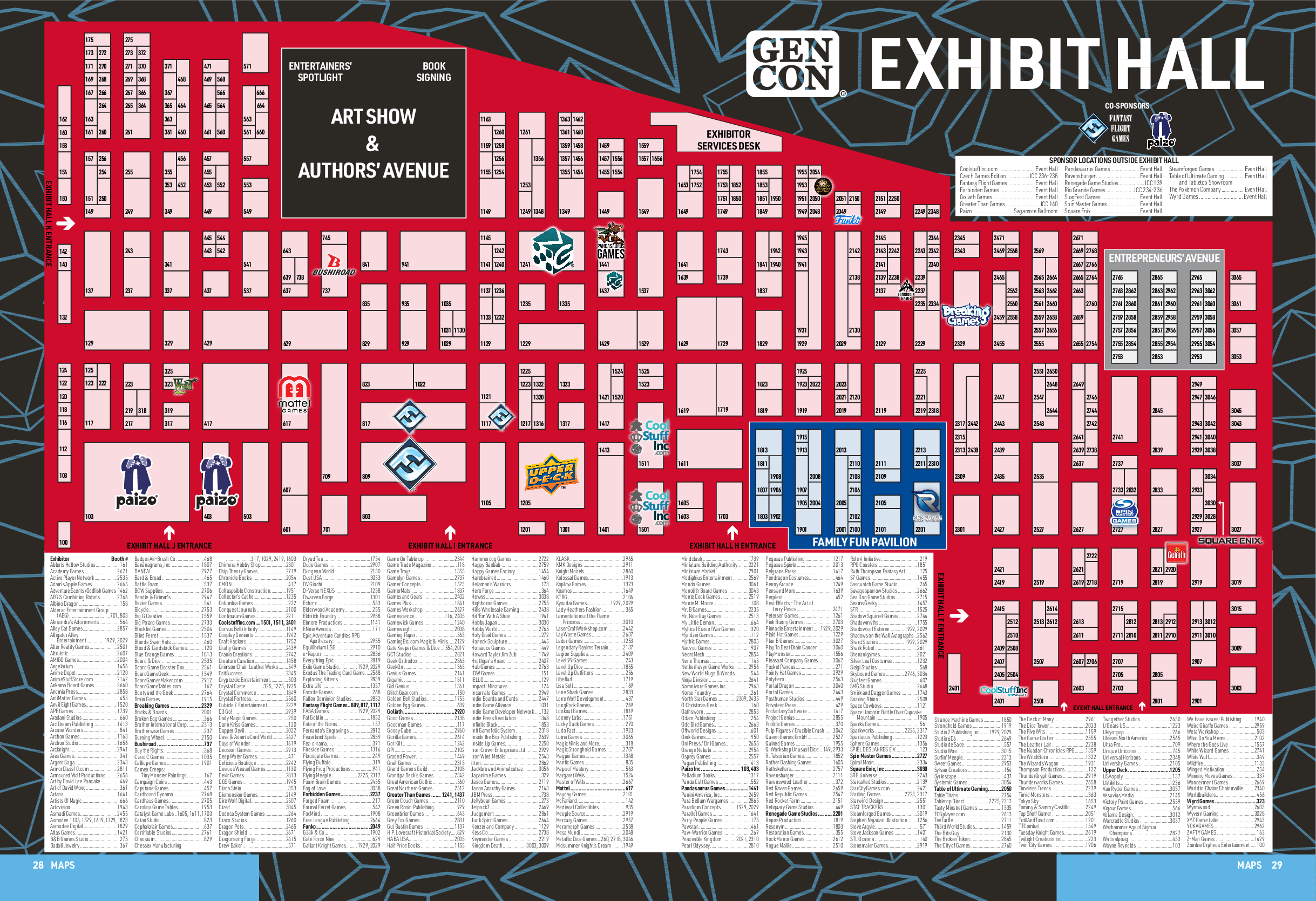 Gen Con 2019 Exhibit Hall Map Released | DDO Players